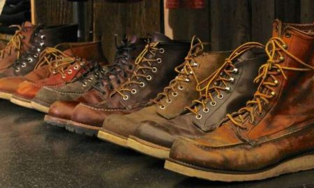 red wing old shoes